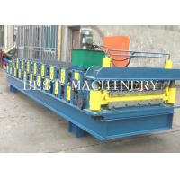 China Double Deck Profile Wall Roof Panel Roll Forming Machine Hydraulic Type on sale