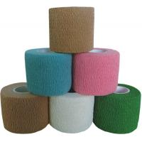 Colored Tear by Hand Cotton Self - adhesive Cotton Elastic Bandage Tape