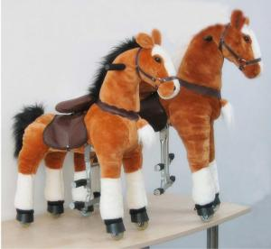 China Amusement Park Equipment Mechanical Pony Kid Ride On Walking Animal Rocking Horses on sale