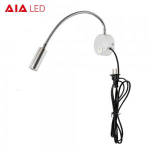 China IP40 usb+cable+plug surface mounted bed flexible indoor 3W Interior LED wall lighting for bedside on sale