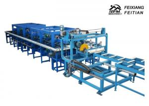 China Blue Color Sandwich Panel Roll Forming Machine / Continuous Sandwich Panel Production Line on sale
