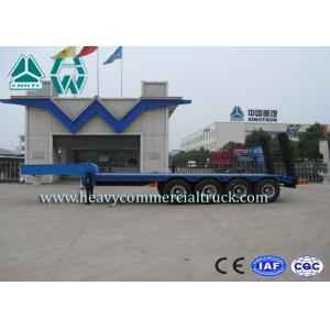 China 4 Axles Low Bed Vehicle Low Flatbed Trailer For Special / Heavy Duty Transports on sale