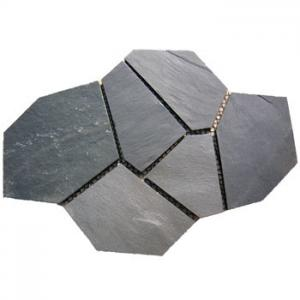 China Black Slate Matted Stone Pavers /Irregular Paving stone/Stone Flooring on sale