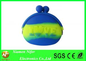China Mixed Color Women Rubber Silicone Pouch Purse with Silicone Wrap for Promotion Gifts on sale