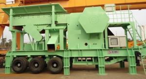 China Planta de pedra hidráulica móvel 100-150TPH do triturador de maxila usando o gerador diesel on sale