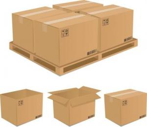 China strong Shipping cardboard corrugated paper Moving Boxes for Packing on sale