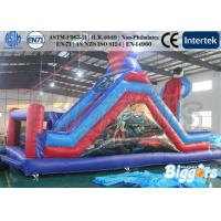 Tarpaulin Commercial Inflatable Combo Slide Superman Bouncer 0.55mm PVC