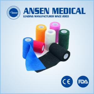 China Medical Dressing Elastic Bandage Cohesive Vet Wrap Tape on sale