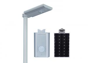 China External 12w Sensor All In One Integrated Solar Street Light CRI >75ra on sale