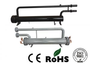 China Ground Source Heat Pump Shell Tube Evaporator , Copper Tube Heat Exchanger on sale