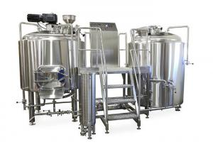 China 50MM PU Insulation 2 Vessel Brewing System Manual / Semi Automatic Controlling on sale