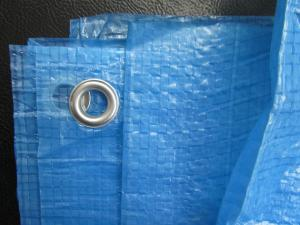 China 90gsm blue pe arpaulin,hdpe sheeting with grommets on sale
