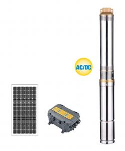 China AC / DC HYBIRD Plastic Impeller Solar Water Pumping System , Home Water Pump on sale