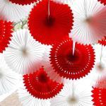 Solid Color Pierced Paper Fan Decorations Paper Backdrop Decor