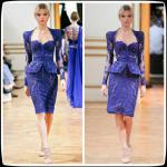 Sweetheart Zuhair Murad Short Long Homecoming Dresses Blue , Cocktail Party Gowns