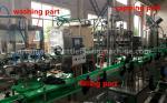 Energy Drink Glass Bottle Filling Machine 220V / 380V Voltage For Small Scale Beverage Factory