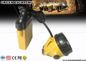 China 3W 10.4Ah Underground Miner Cap Lamp ,  Rechargeable LED Headlamp with Warning Light on sale
