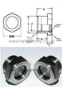 China Stainless Steel 304 316 Peep Hole Quartz Glass on sale