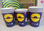 Tasse chaude de papier de boissons des couleurs 9oz de l'impression en surcharge 4 de Flexo avec l'illustration de conception d'OEM