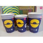 Taza caliente de papel de la bebida de los colores 9oz de la impresión sobrepuesta 4 de Flexo con las ilustraciones del diseño del OEM