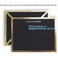 China Classic Style A3 A4 A7 Gold Brown Shipping Kraft Paper Envelope Custom Logo on sale