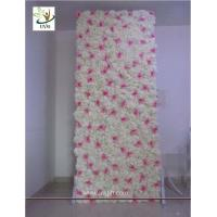 UVG 8ft white photography backdrops in silk wedding flower wall for event stage decoration