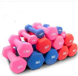 Fitness Exercises Hand Weight Hex Neoprene Dumbbell For