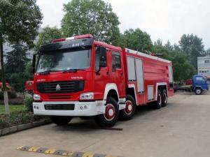 China 24 Ton 8x4 Water Foam Firefighter Truck , Heavy Rescue Fire Truck D10 Series Engine on sale