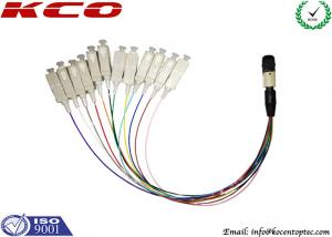 China Fiber Optic Breakout Cable / QSFP Breakout Cable MTP MPO to 12 Fan Out SC on sale