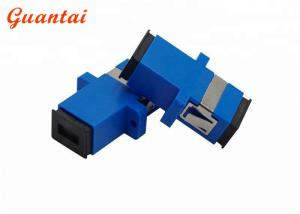 China SC FC ST LC Fiber Optic Adapters Blue Color Low Insertional Loss Design on sale