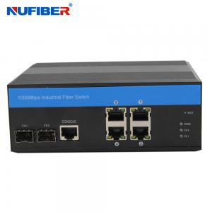 China Managed Gigabit Industrial POE Switch 4*10/100/1000M POE+2*1000M SFP with DIN-Rail, IP44, SNMP, RSTP, Ring Network on sale