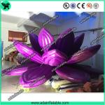 Giant Wedding Decoration Inflatable Lotus , Oxford Inflatable Purple Flower