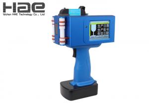 China Blue Automatic Spray Manual Operation Hand Held Inkjet Marker Expiry Date Print on sale