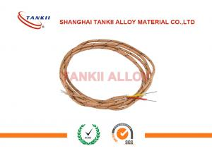 Quality Single Core Thermocouple Cable Chromel Alumel Thermocouple Fiberglass Wire Type for sale