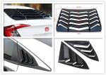 Sport Style Rear And Side Car Window Shutters For Honda Civic 2016 2018