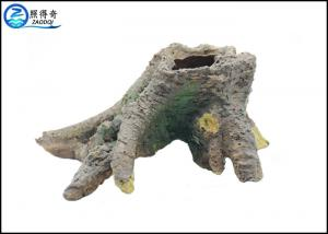 China Hand-crafted Realistic Tree Stump Fish Aquarium Craft Non-toxic Poly Resin on sale