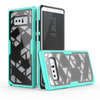 New Products Custom Hybrid Rugged PC TPU 2 In 1 Geometry Mobile Phone Cover For Samsung Galaxy Note 8 Combo Case