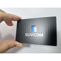 Customized Stainless Steel Matte Black Metal Business Member Card With Color Painted Logo