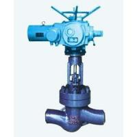 Welded Stainless Steel Globe Valve With Electric Actuator Butt Welding Ends