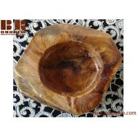 Vintage creative carved customized handmade wooden ashtray for father