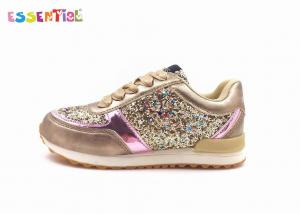 China School Youth Casual Shoes For Kids Girls , Kids Wear Shoes PU Satin Lace Up on sale