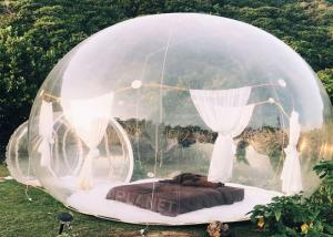 China 0.8mm clear PVC Inflatable Bubble Tent  with 2m tunnel on sale