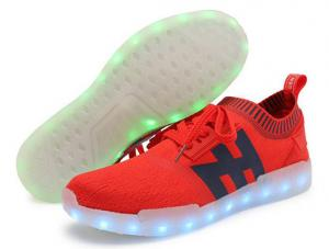 China Programmable Red Light Up Shoes , Simulation Led Walk Shoes 7 Static Colors on sale