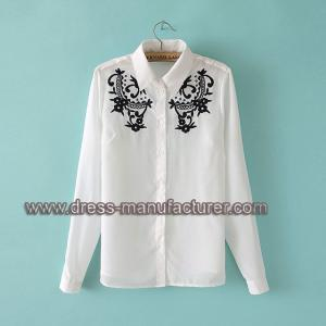 China 2015 New Fashion Embroidered Long Sleeve shirt For Women on sale