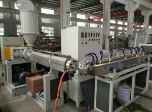 China Fiber Reinforced Soft PVC Flexible Pipe Plastic Extruder Machine on sale
