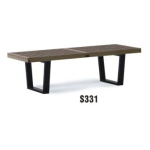 China America style 2 seater wooden bench furniture on sale