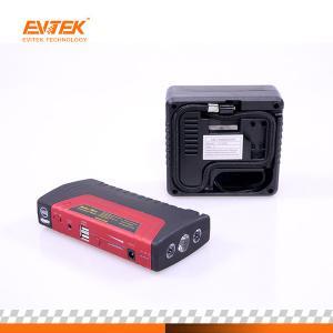 China Evitek Emergency 16800 Mah 12v Jump Starter With Air Compressor on sale