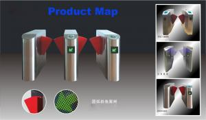 China High secure RFID biometric barcode flap barrier gate , automated security gates on sale