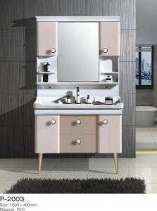China Ceramic Basin PVC Bathroom Vanity Small Floor Standing Install Tissues Keeping on sale