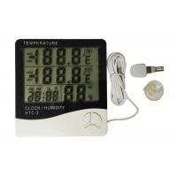 White Color Digital Weather Thermometer , Digital Indoor Outdoor Thermometer